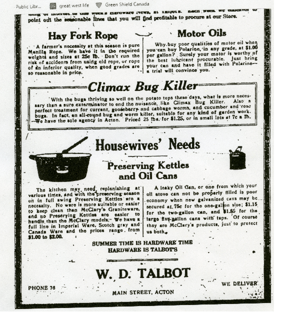 Climax Bug Killer Ad, 1924