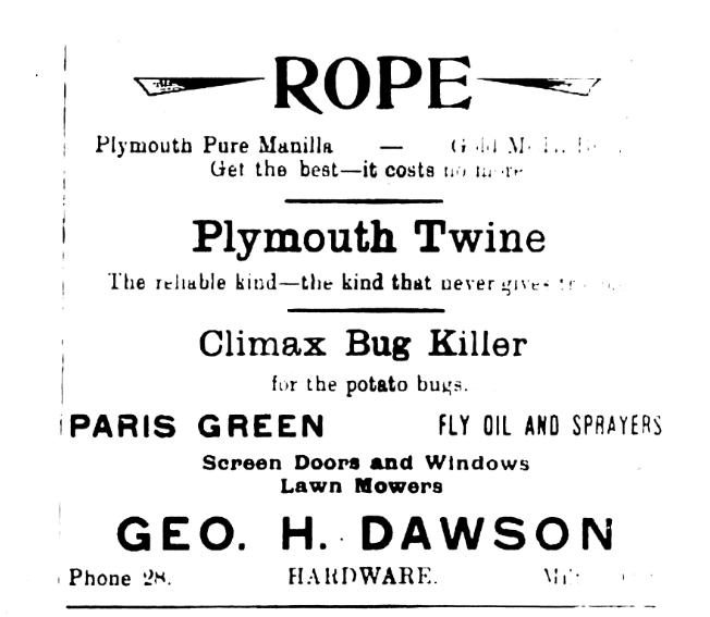 Climax Bug Killer Ad, 1922