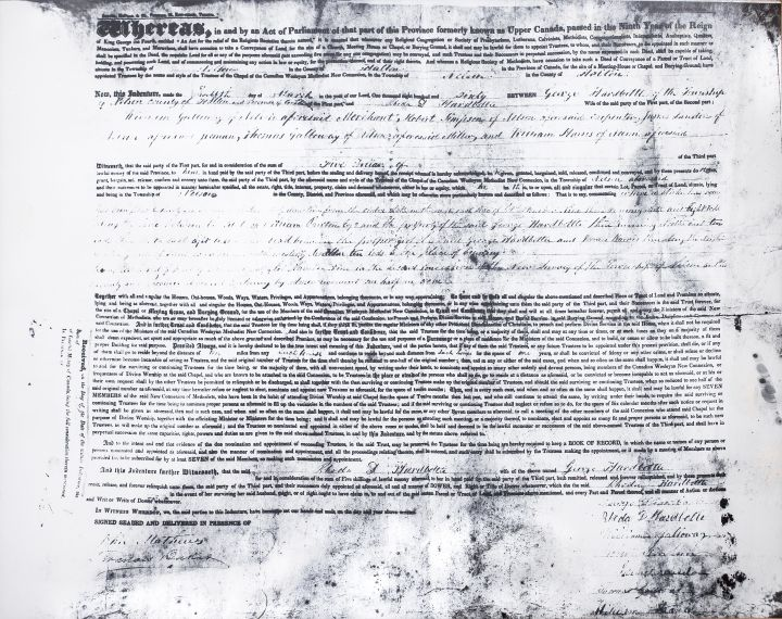 Nelson New Connexion Chapel Deed, 1860