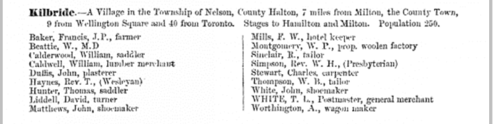 Fountain Hotel Directory Entry, 1869