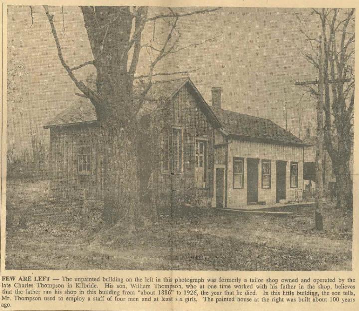 Kilbride Tailor Shop, 1950