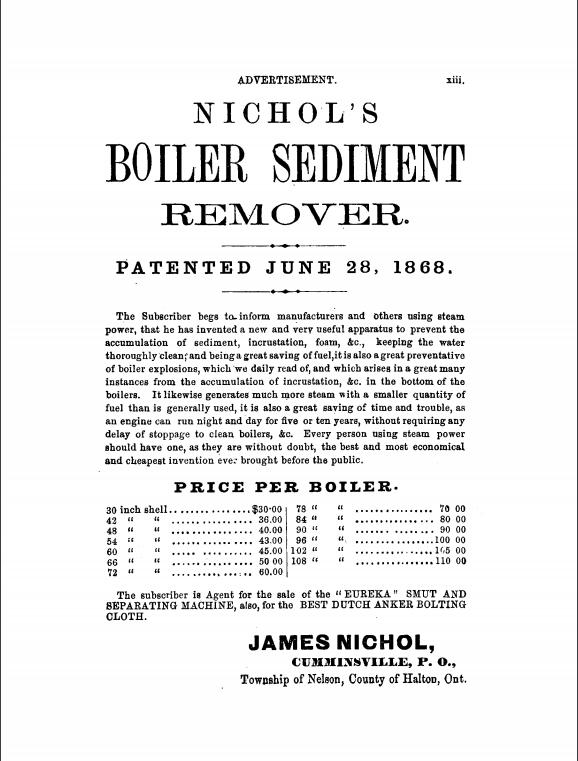 1869 Gazetteer James Nichol