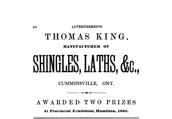 1869 Gazetteer Thomas King