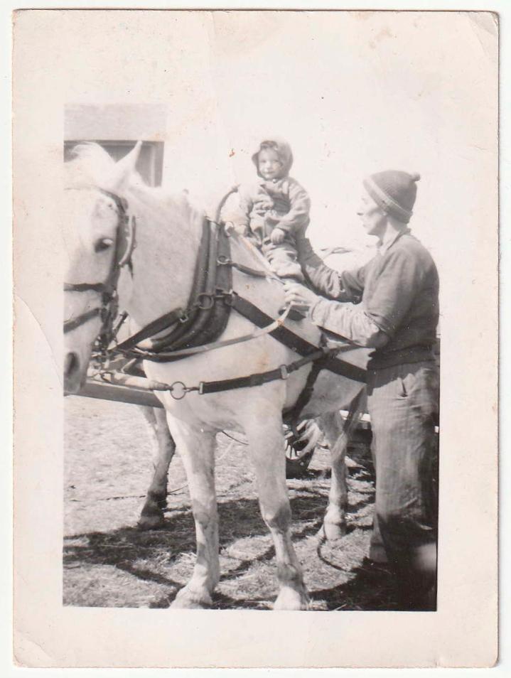 Dad and I, circa 1945